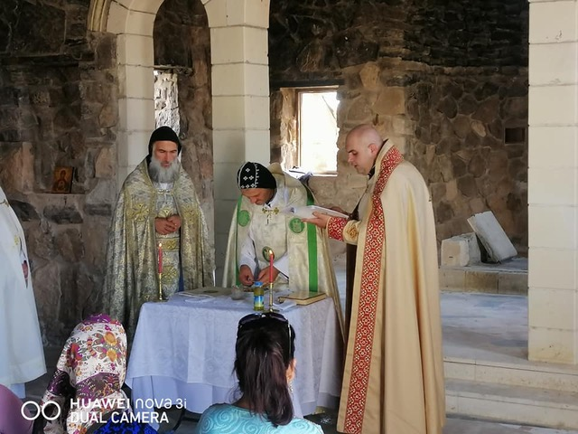 1ère messe à Mar Elian-Quaryatayn depuis plus de 5 ans